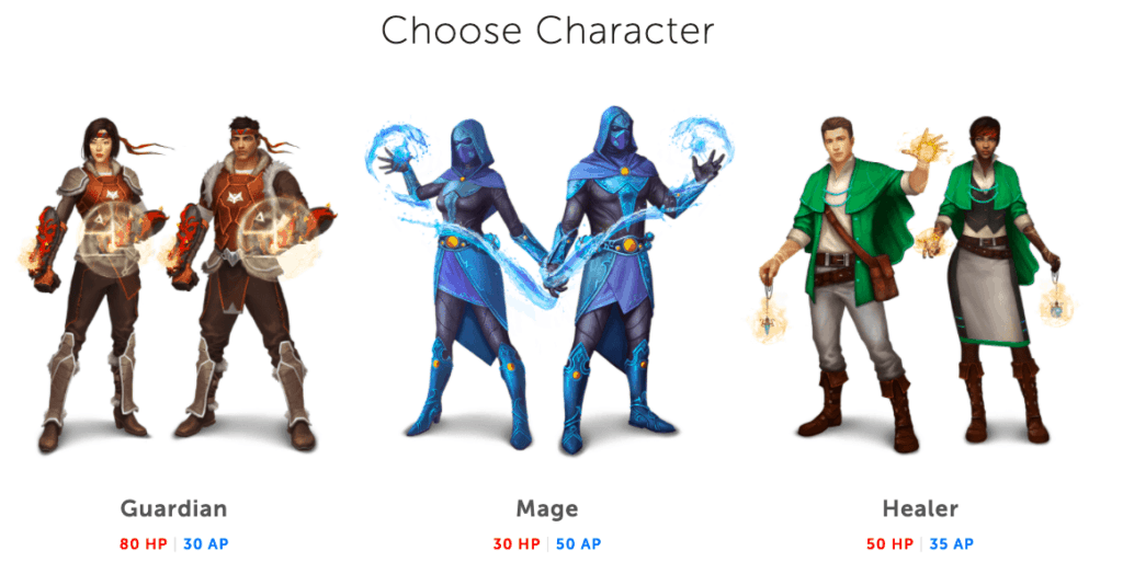 personajes en classcraft